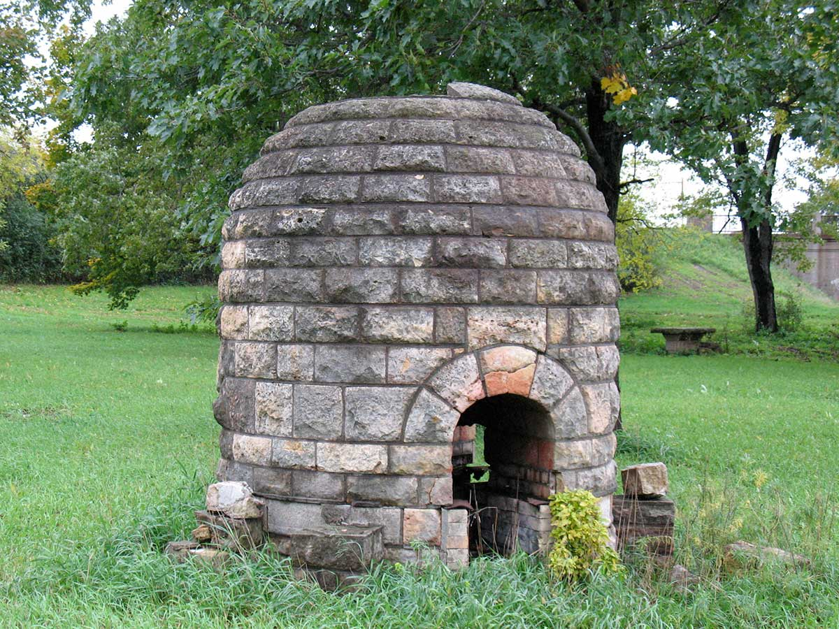 Limestone beehive at the original Lilac Park on Highway 100 and Minnetonka Boulevard