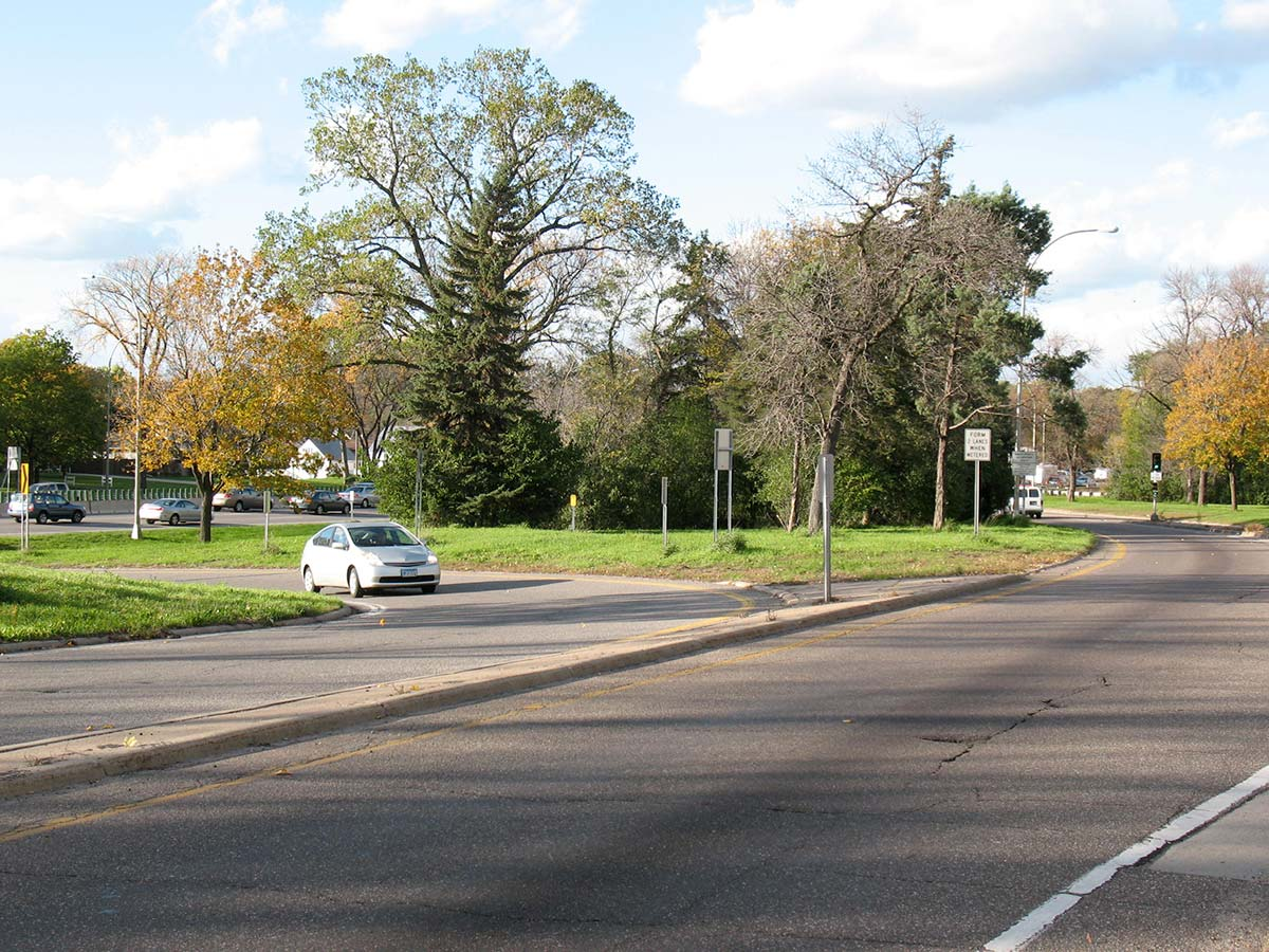 Highway entrance near the original Lilac Park on Highway 100 and Minnetonka Boulevard